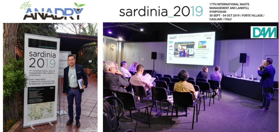 Life-ANADRY at Sardinia Symposium 2019