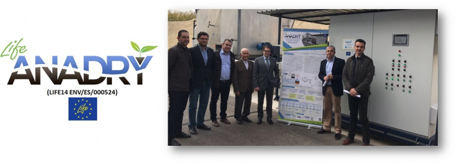 The Minister of Water, Agriculture, Livestock and Fisheries, accompanied by the Mayor of Alguazas, the Communities of Irrigators and ESAMUR visited the LIFE ANADRY project