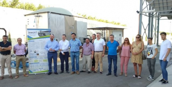 The general director of Water visits  Alguazas WWTP and LIFE ANADRY project