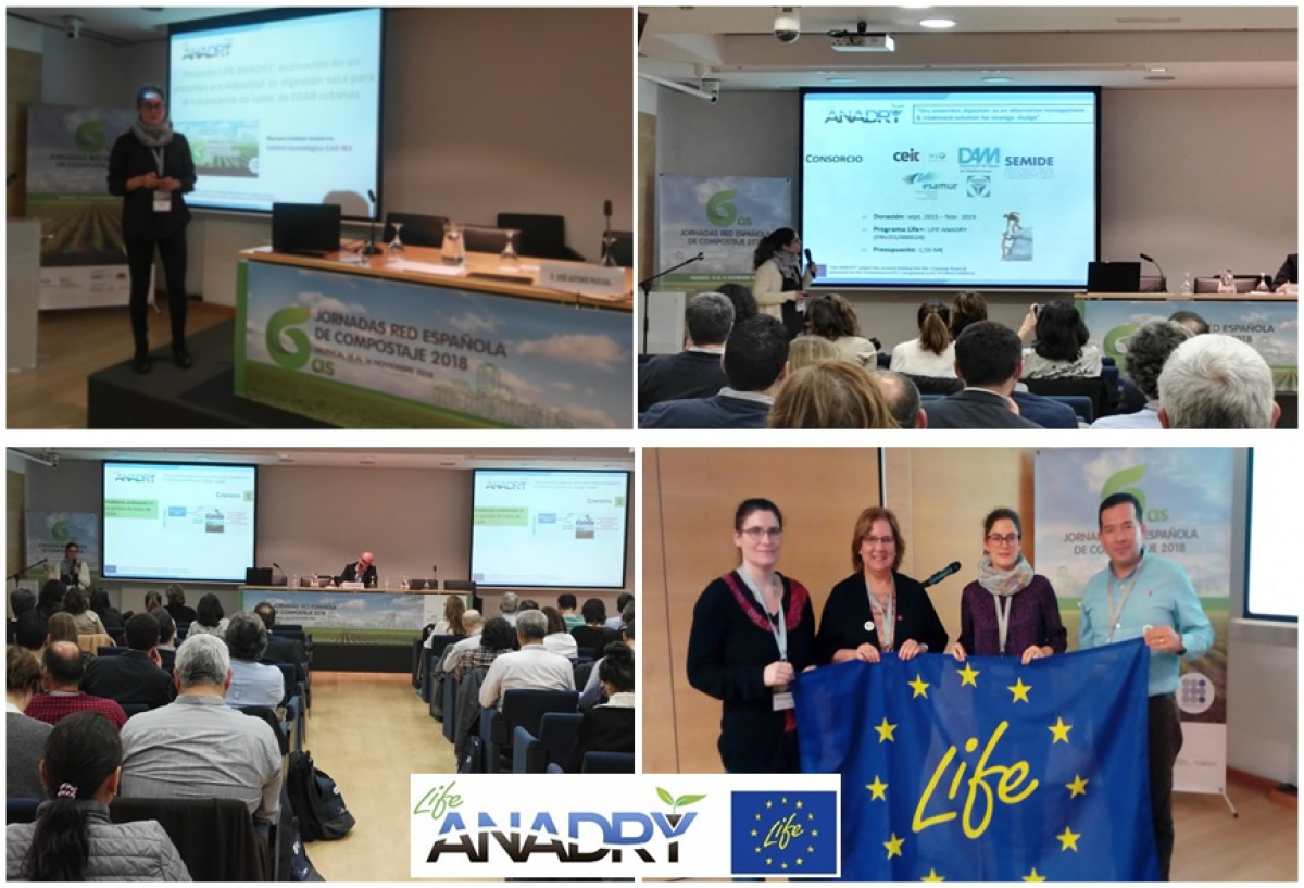 LIFE ANADRY at the 6th Spanish Red Composting Conference