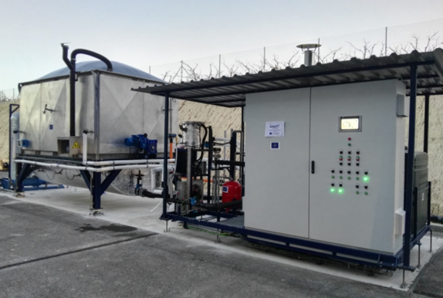 The installation of the prototype ANADRY in Alguazas WWTP, Murcia-Spain!