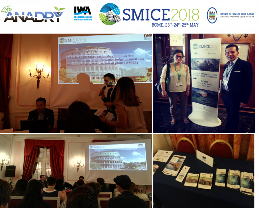 Life-ANADRY at Sludge Management in Circular Economy (SMICE2018)!